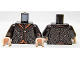 Part No: 973pb1545c01  Name: Torso LotR Coat Tattered with 2 Buttons, Dotted Leaves Pattern / Dark Brown Arms / Light Flesh Hands