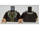 Part No: 973pb1553c01  Name: Torso LotR Coat with Tan Fur Trim and 2 Shirts Pattern / Dark Brown Arms / Light Flesh Hands