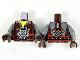 Part No: 973pb3440c01  Name: Torso Vest, Dark Bluish Gray Shirt, Silver Minifig Skull Pattern / Dark Bluish Gray Arms with Dark Brown and Silver Cuffs Pattern / Dark Brown Hands