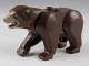 Part No: 98295c01pb02  Name: Bear with 2 Studs on Back and Dark Tan Muzzle Pattern