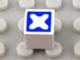 Part No: Mx1011Apb54  Name: Modulex Tile 1 x 1 with Blue Cross Diagonal Pattern