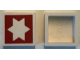 Part No: Mx1022Apb232  Name: Modulex Tile 2 x 2 with Red Star 6-Point Outline Pattern (no internal support)