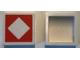 Part No: Mx1022Apb235  Name: Modulex Tile 2 x 2 with Orange Diamond Outline Pattern (no internal support)