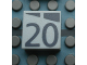 Part No: Mx1022Apb176  Name: Modulex Tile 2 x 2 with Dark Gray Slopes and Calendar Week Number '20' Pattern
