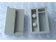 Part No: Mx1615a  Name: Modulex Name Holder End - Left 2 x 3