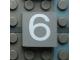 Part No: Mx1022Apb060  Name: Modulex Tile 2 x 2 with White '6' Pattern