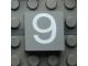 Part No: Mx1022Apb063  Name: Modulex Tile 2 x 2 with White '9' Pattern