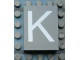 Part No: Mx1043pb10  Name: Modulex Tile 3 x 4 with White 'K' Pattern