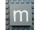 Part No: Mx1044pb03  Name: Modulex Tile 4 x 4 with White 'm' Pattern