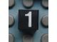 Part No: Mx1011Apb114  Name: Modulex Tile 1 x 1 with White '1' Pattern
