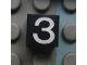 Part No: Mx1011Apb116  Name: Modulex Tile 1 x 1 with White '3' Pattern