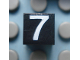 Part No: Mx1011Apb120  Name: Modulex Tile 1 x 1 with White '7' Pattern
