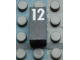 Part No: Mx1021Apb56  Name: Modulex Tile 1 x 2 with White Calendar Day Number '12' Pattern
