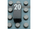 Part No: Mx1021Apb60  Name: Modulex Tile 1 x 2 with White Calendar Day Number '20' Pattern