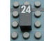 Part No: Mx1021Apb62  Name: Modulex Tile 1 x 2 with White Calendar Day Number '24' Pattern