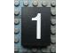 Part No: Mx1043pb28  Name: Modulex Tile 3 x 4 with White '1' Pattern
