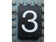 Part No: Mx1043pb30  Name: Modulex Tile 3 x 4 with White '3' Pattern