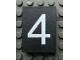 Part No: Mx1043pb31  Name: Modulex Tile 3 x 4 with White '4' Pattern