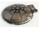 Part No: 18675pb03  Name: Dish 6 x 6 Inverted - No Studs with Handle with SW 8 Spoke Death Star Window Pattern