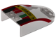 Part No: 18973pb02  Name: Windscreen 6 x 4 x 1 Curved with 'Ferrari', Italian Flag and Black and Red Pattern