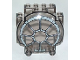 Part No: 30366px2  Name: Windscreen 3 x 6 x 5 Bubble with SW 8 Spoke Radial Pattern - (Undetermined Version)