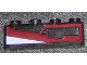 Part No: 3066pb003R  Name: Brick 1 x 4 without Bottom Tubes with Dark Red and White Panel Pattern Model Right Side (Sticker) - Set 7964