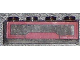 Part No: 3066pb004  Name: Brick 1 x 4 without Bottom Tubes with Dark Red Panel Pattern (Sticker) - Set 7964