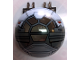 Part No: 50747pb07  Name: Windscreen 6 x 6 x 3 Canopy Half Sphere with Dual 2 Fingers and SW Sith Fighter Pattern