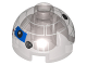 Part No: 553pb025  Name: Brick, Round 2 x 2 Dome Top with Blue Pattern (Imperial Astromech)