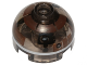 Part No: 553pb027  Name: Brick, Round 2 x 2 Dome Top with Dark Brown with Silver Band around Dome Pattern (R3-M2)