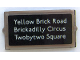 Part No: 60602pb11  Name: Glass for Window 1 x 2 x 3 with 'Yellow Brick Road', 'Brickadilly Circus' and 'Twobytwo Square' Pattern (Sticker) - Set 10258