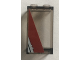 Part No: 87544pb036R  Name: Panel 1 x 2 x 3 with Side Supports - Hollow Studs with Dark Red Diagonal Stripe Pattern Model Right Side (Sticker) - Set 75157