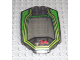 Part No: x224pb020  Name: Windscreen 8 x 6 x 2 Curved with Lime/Green RC Racer and Red Number 34 Pattern (Sticker) - Set 4589