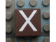 Part No: Mx1022Apb024  Name: Modulex Tile 2 x 2 with White 'X' Pattern