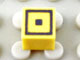 Part No: Mx1011Apb62  Name: Modulex Tile 1 x 1 with Black Square Double Pattern