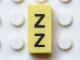 Part No: Mx1021Apb161  Name: Modulex Tile 1 x 2 with Black 'Z Z' Pattern (vertical)