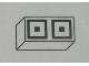 Part No: Mx1021Apb78  Name: Modulex Tile 1 x 2 with Black Squares Double Pattern