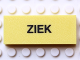 Part No: Mx1052pb002  Name: Modulex Tile 2 x 5 with Black 'ZIEK' Pattern