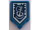Part No: 22385pb123  Name: Tile, Modified 2 x 3 Pentagonal with Nexo Power Shield Pattern - Ship Wrecker