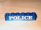 Part No: 3067pb01  Name: Brick 1 x 6 without Bottom Tubes with White 'POLICE' Serif Pattern
