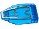 Part No: 45705pb020  Name: Windscreen 10 x 6 x 2 Curved with Silver and Yellow Avengers Quinjet Pattern (Sticker) - Set 76032