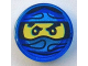 Part No: 98138pb039  Name: Tile, Round 1 x 1 with Ninjago Trapped Jay Pattern