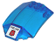 Part No: x224pb009  Name: Windscreen 8 x 6 x 2 Curved with 'POLICE' and Space Police 3 Badge Pattern (Sticker)
