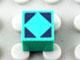 Part No: Mx1011Apb61  Name: Modulex Tile 1 x 1 with Black Diamond Outline Pattern