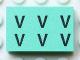 Part No: Mx1032Bpb001  Name: Modulex Tile 2 x 3 with Black 'V V V V V V' Pattern (with Internal Supports)