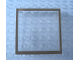 Part No: Mx1555pb04  Name: Modulex Window 1 x 5 x 5 with Brown Border Pattern