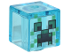 Part No: 19729pb022  Name: Minifigure, Head Modified Cube with Minecraft Charged Creeper Face Pattern