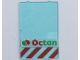 Part No: 2494px8  Name: Glass for Window 1 x 4 x 5 with Octan Logo Pattern