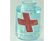 Part No: 3062bpb059  Name: Brick, Round 1 x 1 Open Stud with Red Cross with White Outline Pattern (Overwatch Health Pack)