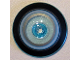 Part No: 35394pb049  Name: Dish 4 x 4 Inverted (Radar) with Open Stud with Black, Light Blue and Metallic Silver Circles Pattern